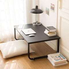 밀키 블랙 라운드 1000 좌식책상 컴퓨터 테이블 노트북 낮은책상