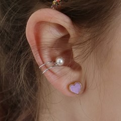 two line pearl earcuff (2colors)