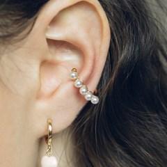 crown pearl earcuff (2colors)