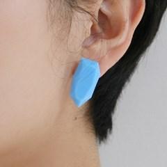 aqua polygon earrings