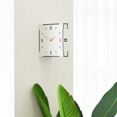 모던 우드 양면시계 화이트_(1939415)