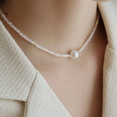 pearl between twinkle necklace