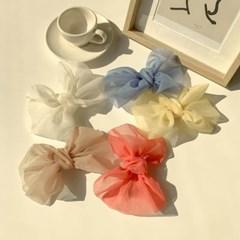 쉬폰 파스텔 리본 헤어핀 5color