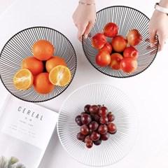 인테리어 원형 철제 과일 야채 바구니 바스켓