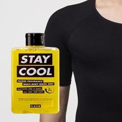 멀티바디워시 STAY COOL + 보정속옷 플렉스팩 반팔 블랙L