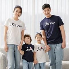 이즈러브반팔 WN 가족티 패밀리룩 가족티셔츠 대가족 단_(947690)