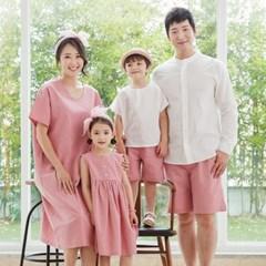 데이지 패밀리룩 인디핑크 가족티 돌가족촬영 사진의상_(947711)