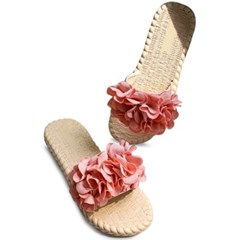 kami et muse Rich flower corsage jelly slippers_KM20s140