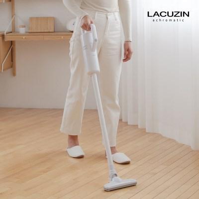 [21년형] 라쿠진 가정용 무선 진공 청소기 화이트