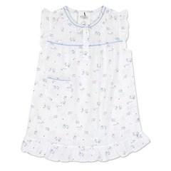 알콩단잠 아동여름잠옷 아울래빗 순면 반팔 원피스 실내복 (블루)