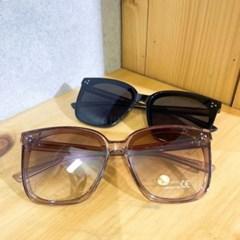 브라운 블랙 오버사이즈 사각 뿔테 선글라스 안경테