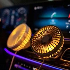 단풍나무 LED 차량용 에어컨 거치식 쿨 선픙기 ACF11