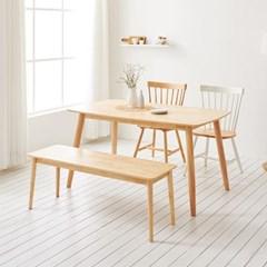 가구데코 스위트 내추럴 1480+벤치+의자 2개 NE0128