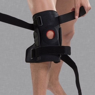 지지대가있는 무릎 보호대