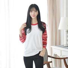 카모 밀리터리 7부 래글런 티 (5 colors) 티셔츠_(1584468)