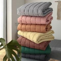먼지없는 베이직 미끄럼방지 누빔 침대패드(S/Q)-9color