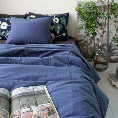 COMFORTABLE BEDDING SET - BLUE
