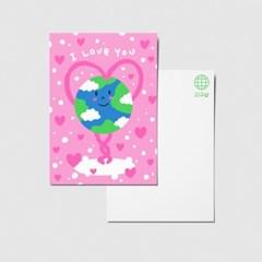 지구샵 제로 라이프 엽서 : 사랑해