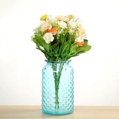 빗방울 무늬 유리병 (블루) 수경재배 vase_(1101794)