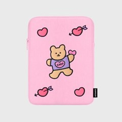Bear heart-pink-ipad pouch(아이패드 파우치)_(1578602)