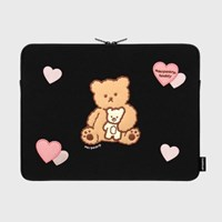 [12.04 예약발송]I love it nini-black-15inch notebook pouch