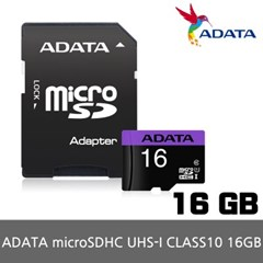 ADATA MicroSD UHS-I CLASS10 16GB