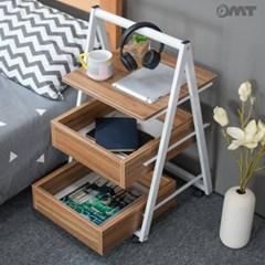 OMT 이동식 3단 슬라이드 수납 선반 사이드 테이블