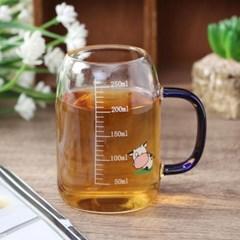 [로하티]알럽밀크 눈금 유리컵(250ml)