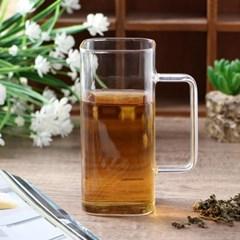 [로하티]에이블 사각 내열유리 유리컵(400ml)