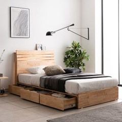 잉글랜더 포틀랜드 LED 원목 수납 침대(NEW E호텔 양모_(12742920)