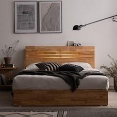 잉글랜더 포틀랜드 LED 원목 수납 침대(DH 본넬스프링_(12742918)