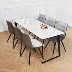 디센 제르마노 6인세라믹식탁 뉴더블사이드 의자 세트_(11015191)
