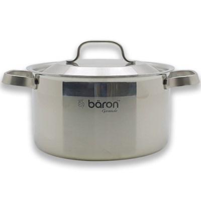 BARON 스텐 통3중 냄비 24cm 양수