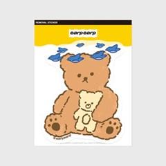 Blue bird bear(커팅 스티커)_(1580653)