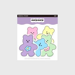 Blossom bear friends-5color(커팅 스티커)_(1580654)