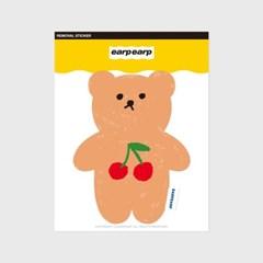 Cherry big bear(커팅 스티커)_(1580652)