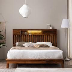 잉글랜더 오르 전체 로즈우드 LED 평상형 침대(GC 메모_(12743212)