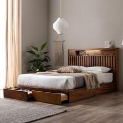 잉글랜더 오르 전체 로즈우드 LED 수납형 침대(NEW E호_(12743210)