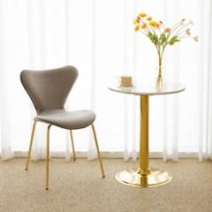 세븐 골드 벨벳 체어 인테리어 식탁 의자_(1806434)