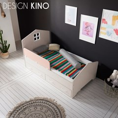 디자인키노 어반 주니어 슈퍼싱글 침대 SS 세트 + 레토렙 매트리스