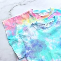 [마미버드] 수채화물감티셔츠 (2color)