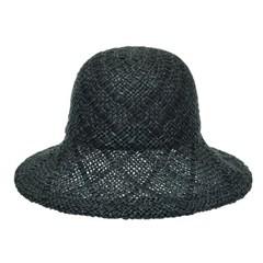 [플릭앤플록]IAP04.사각패턴 밀짚 여성 큰챙 비치 모자