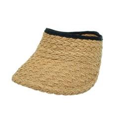 [플릭앤플록]IAP01.물결 밀짚 돌돌이 썬캡 여성 모자