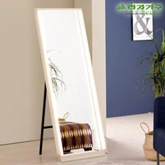라자가구 오브 600 LED 거치형 전신거울 BK8806