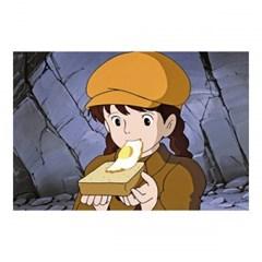 [천공의 성 라퓨타] 엽서(먹방)-시타와 계란빵