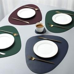 북유럽 방수 주방 식탁 가죽 테이블매트