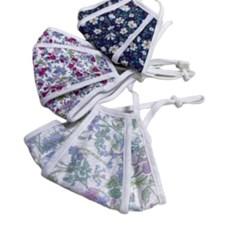 빨아쓰는 필터교체형 숨쉬기편한 얇은 꽃무늬 끈조절 마스크