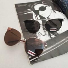 브라운 블랙 UV400 연예인 패션 메탈 선글라스 안경