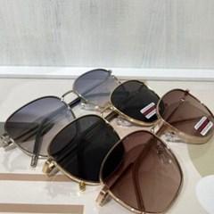 블랙 베이지 UV400 가벼운 선글라스 메탈 안경테