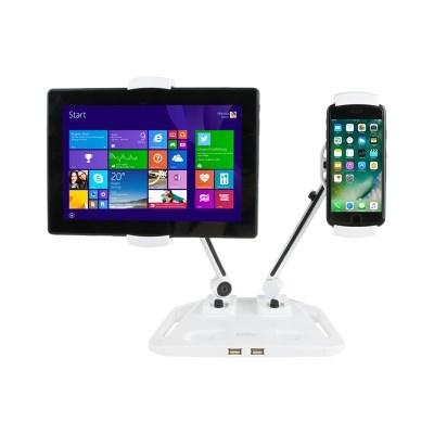 듀얼 태블릿&스마트폰 거치대 (USB 2포트)_(2352247)